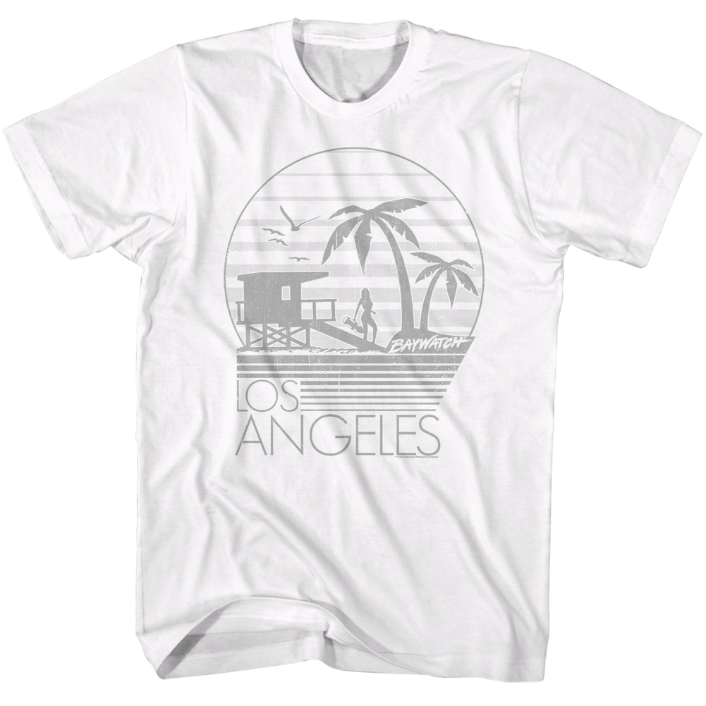 Baywatch 90s Beach Drama Series Clean Graphic Los Angeles Adult T-Shirt Tee