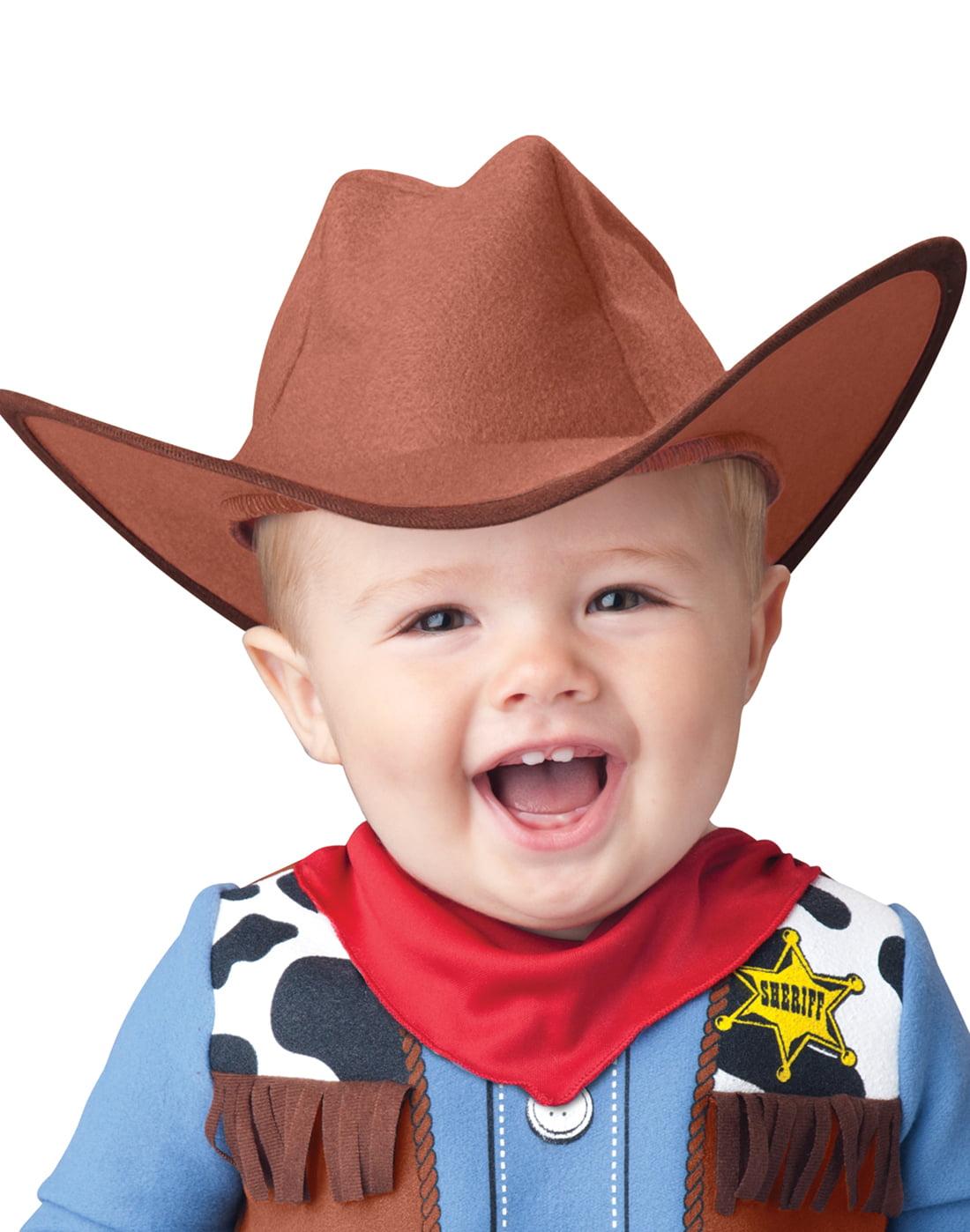 Wee Wrangler Infant Costume Cowboy Hat /& Fringed Jumpsuit InCharacter Toddler