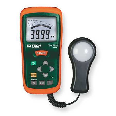 Extech LT300 0 To 40K Fc Light Meter, 0 To 400K Lux