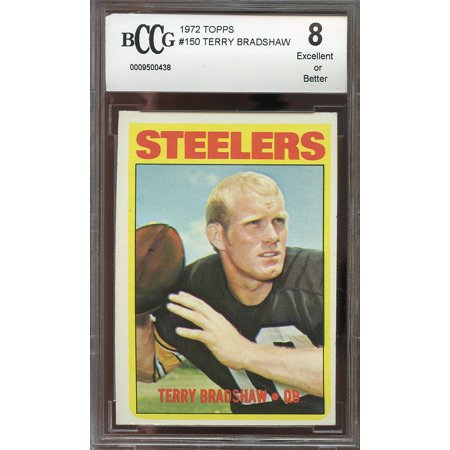1972 Topps  150 Terry Bradshaw Pittsburgh Steelers  2Nd Year Card  Bgs Bccg 8