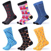 Gallery Seven Mens Dress Socks Funky Colorful Socks for Men - 6 Pack - Cool collection - 6 Pack - Size 10-13