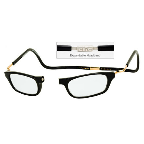 Clic Goggles Black Xxl 150 Reading Glasses Magnetically Clic