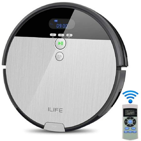 ILIFE V8S robotic Mop Vacuum Cleaner, Vacuum Cleaner Pet Hair with LCD Display, 750ML Big Dustbin, Intelligent Water Tank, Multi-task