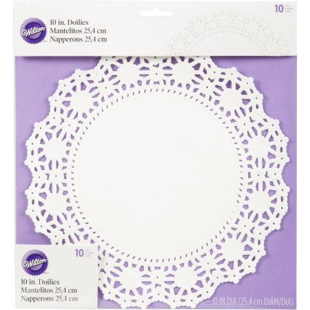 Wilton 10-Inch Doilies, White, 10-Count