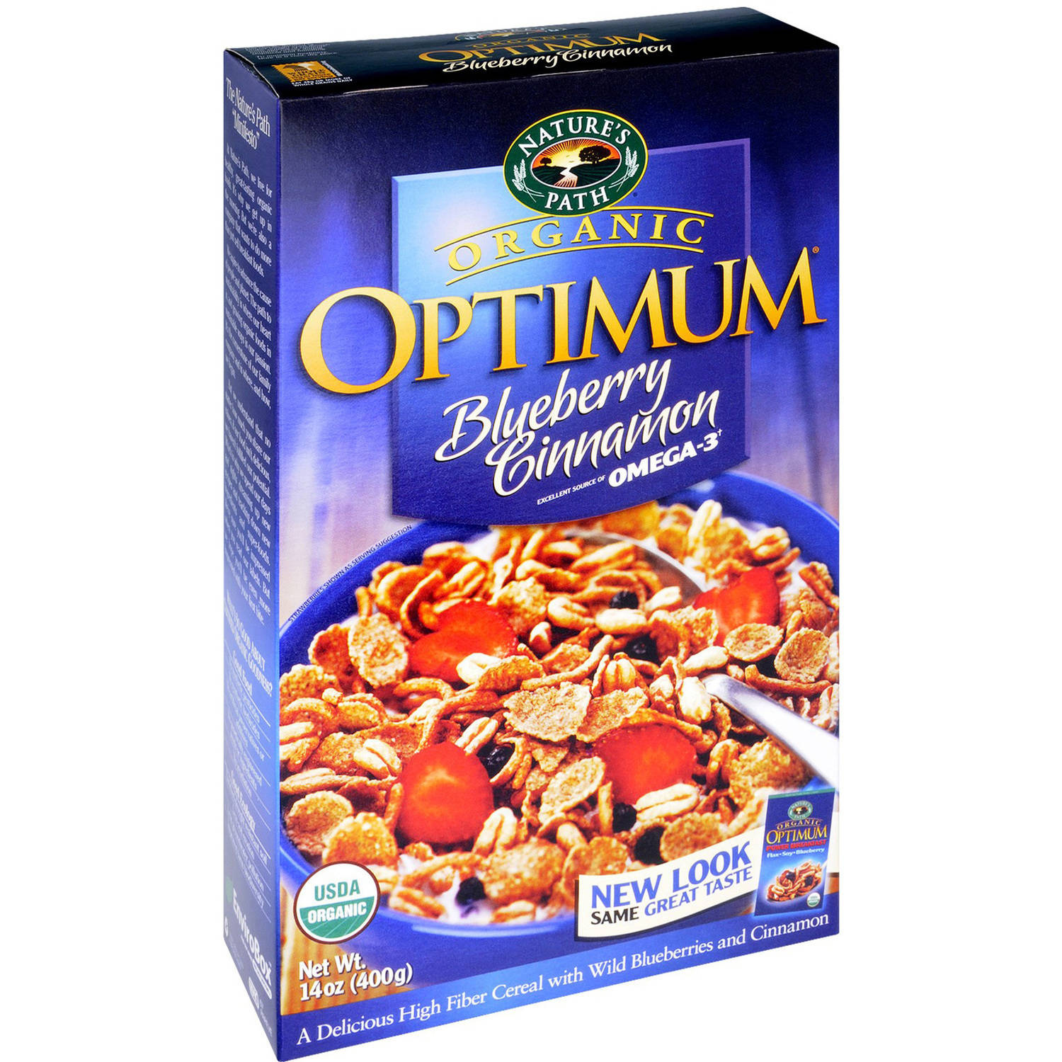 Nature's Path Organic Optimum Blueberry Cinnamon Cereal, 14 oz, (Pack of 12)