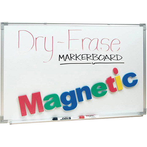School Smart Magnetic Dry Erase Board, 2' x 3', Aluminum Frame