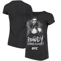 Ronda Rousey UFC Reebok Women's Weigh In Rowdy T-Shirt - Heather Black