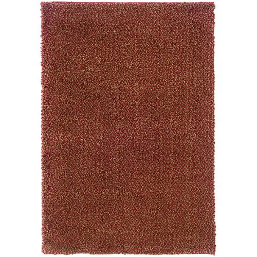 "Style Haven Manhattan Tweed Red/Gold Shag Area Rug (7'10 x 11'2) - 7'10"" x 11'2"""