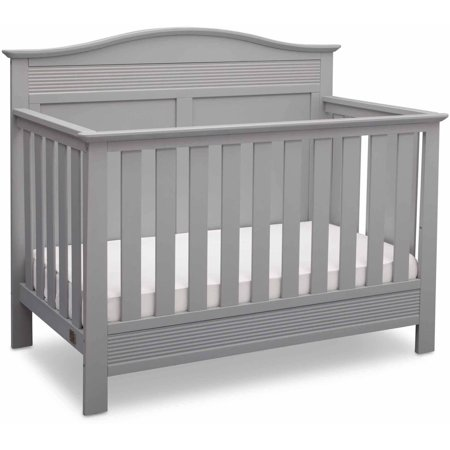 Serta Barrett 4-in-1 Convertible Crib Gray (Best Cribs For Newborns)