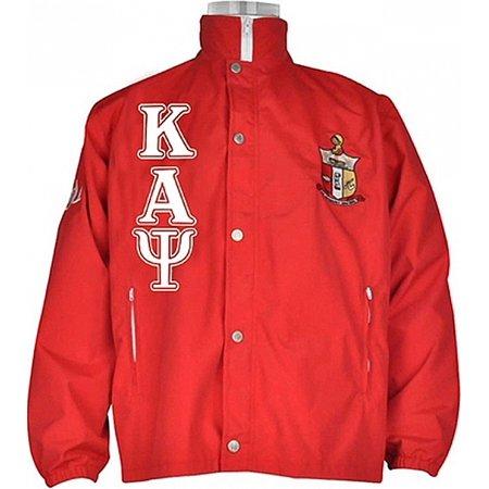 00476ea25 Buffalo Dallas Kappa Alpha Psi Fraternity Mens All-Weather Windbreaker  Jacket [Red - XL]