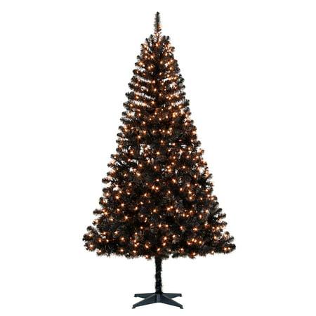 Holiday Time Prelit Pine Christmas Tree 6.5 ft, Black ...