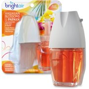 Bright Air Hawaiian Scented Oil Warmer Combo - Oil - 0.7 Fl Oz [0 Quart] - Hawaiian Blossom, Papaya - 45 Day - 8 / Carton - Long Lasting (900254ct)
