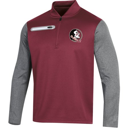Nc State Jackets (Men's Russell Garnet Florida State Seminoles Colorblock Half-Zip Pullover Jacket )