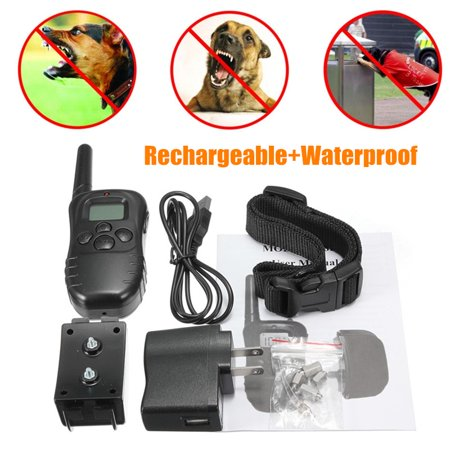 300M Electric Dog Training Collar Rechargeable LCD Electric Shock E-Collar Training Remote Control Anti Barking No Bark Collar Control Collars