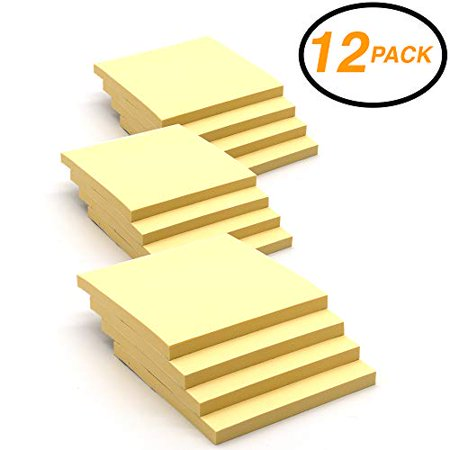 Emraw Super Sticky Notes Stick It Stickies, Plain Small 3