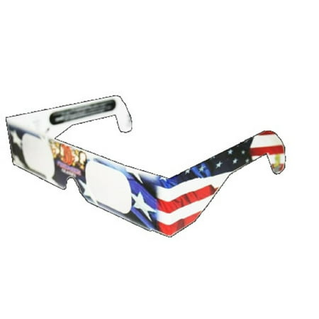 3D July Fourth Fireworks Glasses Patriotic Flag Design, See Starbursts In Every Point Of Light, Pack of 5, Pack Of 5 By American Paper Optics
