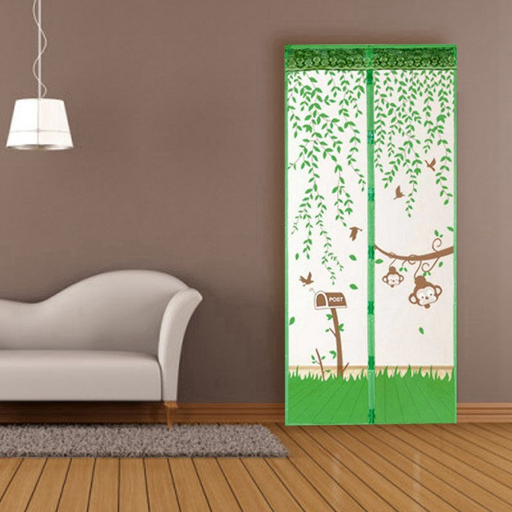 100*210cm Magnetic Screen Door Anti Bugs Mosquitos or Flying Insects Mesh with Top-to-Bottom Seal Blue - image 1 de 3