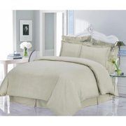 Luxury 200-GSM Solid Flannel 3-piece Duvet Cover Set King/Cal King - Linen