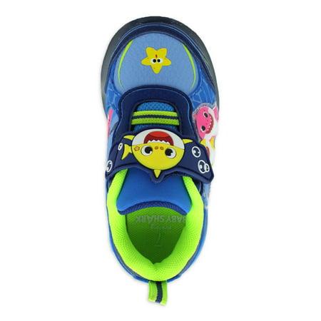 Baby Shark Strapped Athletic Sneaker (Toddler Boys)
