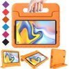 Allytech Kids Case for New Samsung Galaxy Tab A 8.0 2018 - EVA ShockProof Case Light Weight Super Protection Cover Handle Stand Case for Samsung Galaxy Tab A 8.0 2018 (SM-T387) - Orange Features:- Made entirely of durable EVA foam rubber- Soft, squishy material is fun and safe for children- Cutouts for clear access to all buttons, ports, speakers and rear-camera- Built-in, dual-purpose handle feature- Handle doubles as a tablet stand support for viewing in landscape format- Durable foam design protects against drops and impacts- Raised screen bezel for extra protection* Suitable for: Samsung Galaxy Tab A 8.0 2018 Tablet (SM-T387)*PLEASE NOTE: This case is for Samsung Galaxy Tab A 8.0 Tablet only. Will not be compatible with any other 8-inch model tablet.Important: Please remove the black plastic case holder inside before installing your TabletPackage Include:-- 1*Case for Samsung galaxy Tab A 8.0 2018 T387-- 1*Cleaning cloth(Free Gift )-- 1*Stylus pen (Free Gift)