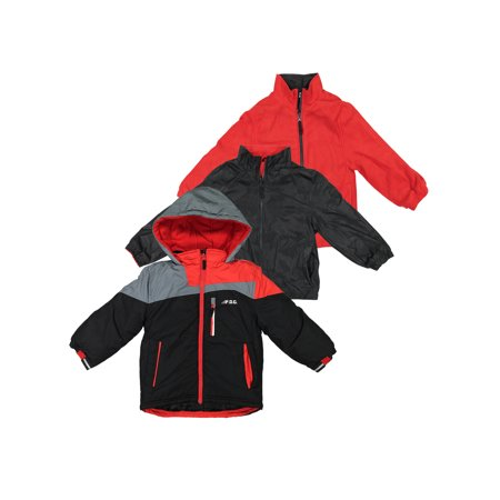 London Fog Boys Heavy Weight System Jacket - Black - 4 (Winter Coat) (Fox Jackets For Men)