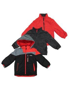 London Fog Boys Heavy Weight System Jacket - Black - 4 (Winter Coat)