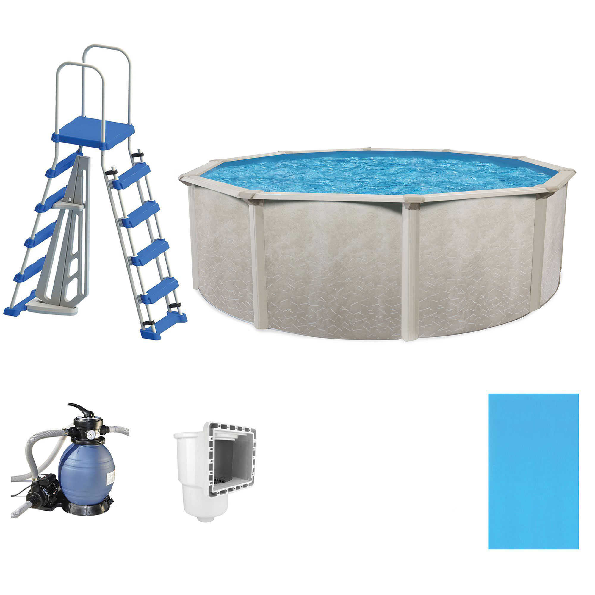 "Cornelius Pools Phoenix 21' x 52"" Frame Above Ground Pool Kit with Pump & Ladder"