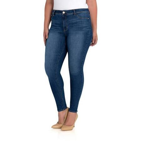 4e4554e09a1 Jordache - Jordache Women s Plus Essential High Rise Super Skinny Jean -  Walmart.com