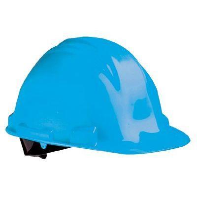 North Safety Peak Hard Hats - sky blue a-safe safetycap w/rain trough