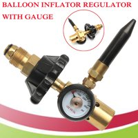 Helium Latex Balloon Air Inflator Regulator With Gauge For G5/8 CGA580