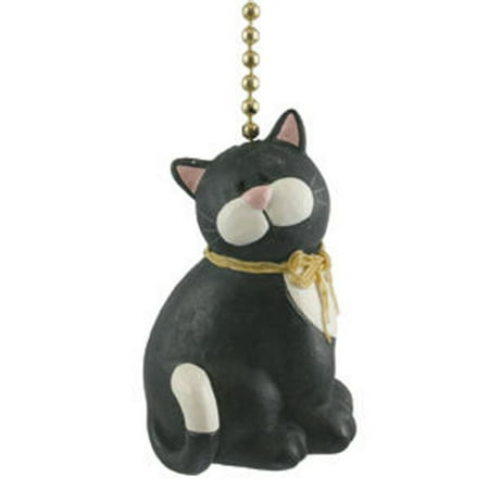 Black Chain Pull - Black Cat Kitten Kitty Feline Lover Ceiling Fan Light Pull