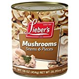 Lieber's Mushrooms Stem & Pieces 16 Oz. Pack Of 3.