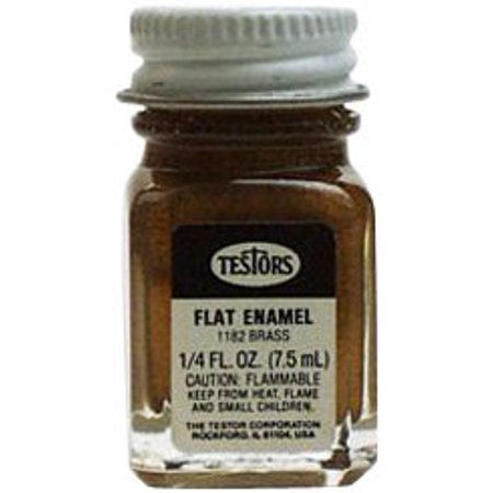 Testors Brass Colored Paint Bottle, ALL PAINT SHIP GROUND MAIL DUE TO POSTAL REGULATIONS, ALLOW 4 MORE DAYS FOR DELIVERY By Testor Corp Ship from US