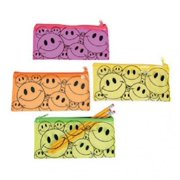 Smile Face Pencil Cases - Stationery - 12 Pieces
