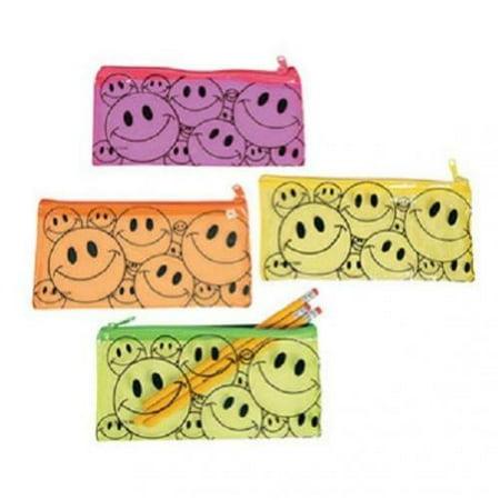 Fun Express Vinyl Smile Face Pencil Pouch Case Party Favor Set (Lot of - Face Painting Parties