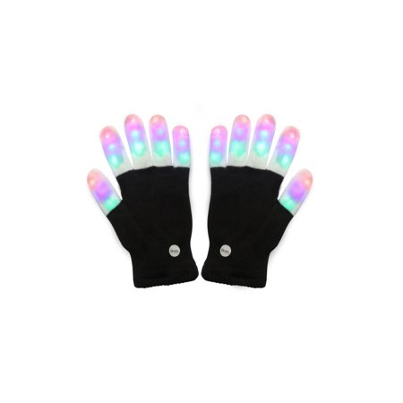 LED Finger Light Gloves with Colorful Rave 7 Colors Light Show](Finger Light Gloves)