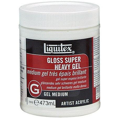 Heavy Gel - Liquitex Super Heavy Gel Medium: 16 oz