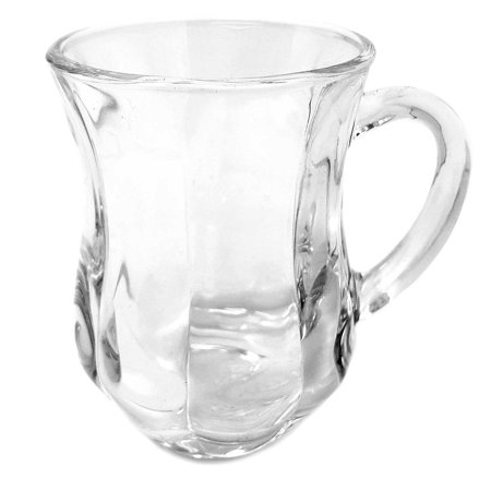 Scalloped Handle Base (Turkish Style Tea/Espresso Scalloped Glass cup with Handles, 4 1/2)
