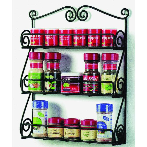 Scroll Wall Mount Spice Rack