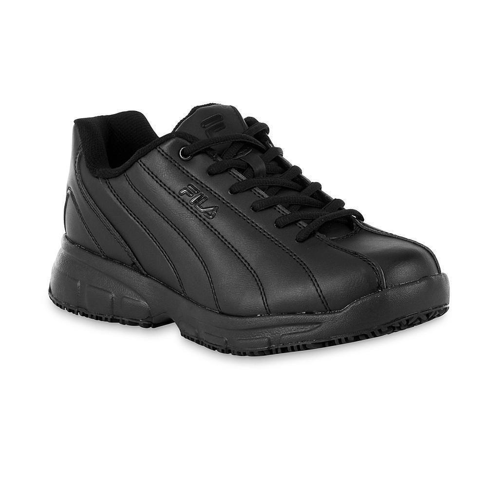 Fila MEMORY NITE SHIFT Mens Black Slip Resistant Athletic Work Shoes by Fila