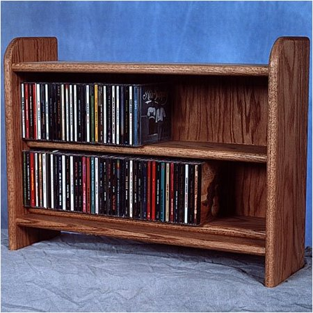 Wood Shed Deluxe 110 Cd Multimedia Tabletop Storage Rack