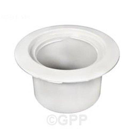 Waterway Plastics WW5196710 Volleyball Pole Holder Flange - White 12 Plastic Pole