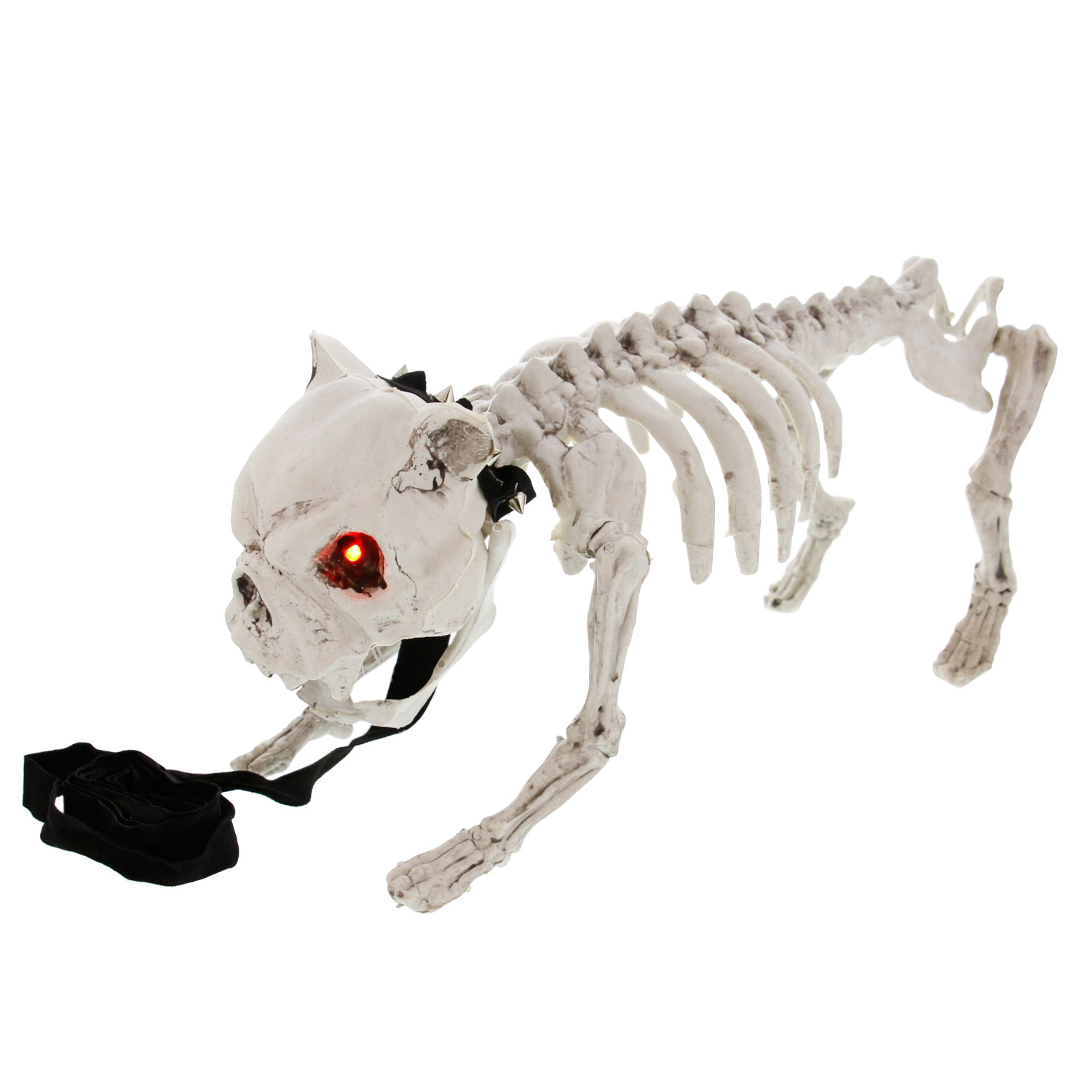 halloween haunters barking skeleton dog prop decoration motion or touch activated red eyes light battery operated walmartcom