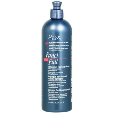 Roux Fanci-Full Temporary Color Rinse 49 Ultra White Minx, 15.2 oz ()