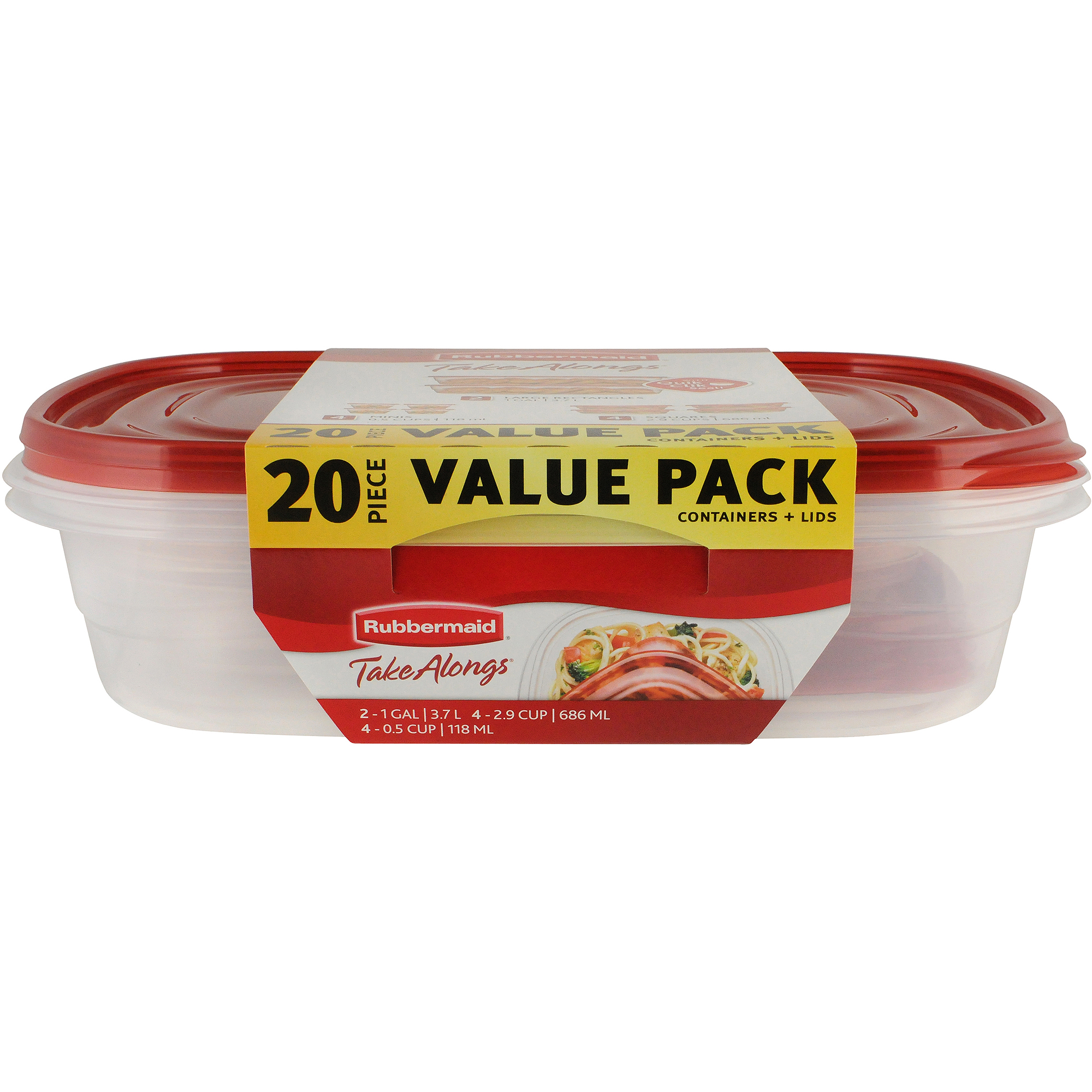 Rubbermaid Fg7k75trchili 4 3 Cup Divided Premier Food