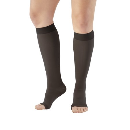 Ames Walker AW Style 201 Medical Support 20-30mmHg Firm Compression Open Toe Knee High Stockings  XXXLarge Short - Relieves pain of tired aching legs - Mild Varicosities and edema (Stocking Legs)