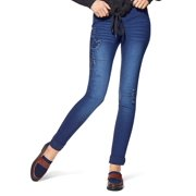Hue U16829 Fashion Denim Distressed Relaxed Denim Leggings