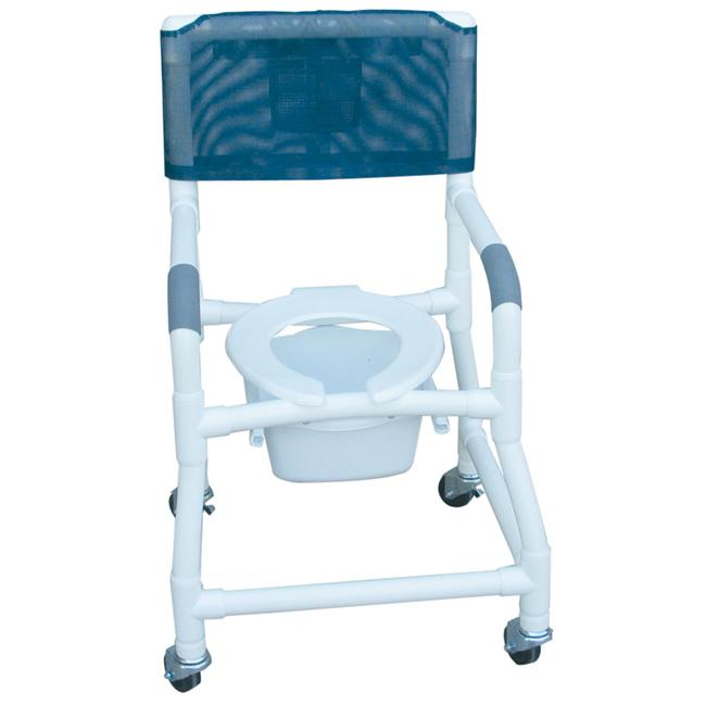 MJM International 118-3-FS-SQ-PAIL Shower- Commode Chair