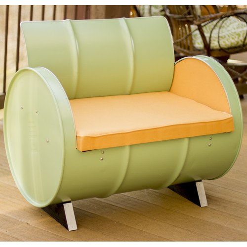 Drum Works Furniture Jadeite Chair with Cushions