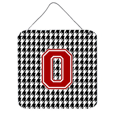 Carolines Treasures CJ1021-ODS66 Monogram - Initial O Houndstooth Aluminium Metal Wall Or Door Hanging Prints - image 1 de 1
